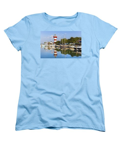 Lighthouse On Hilton Head Island Women's T-Shirt (Standard Cut) by Peter Lakomy