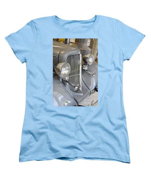 Women's T-Shirt (Standard Cut) featuring the photograph 1934 Plymouth Sedan by Paul Mashburn