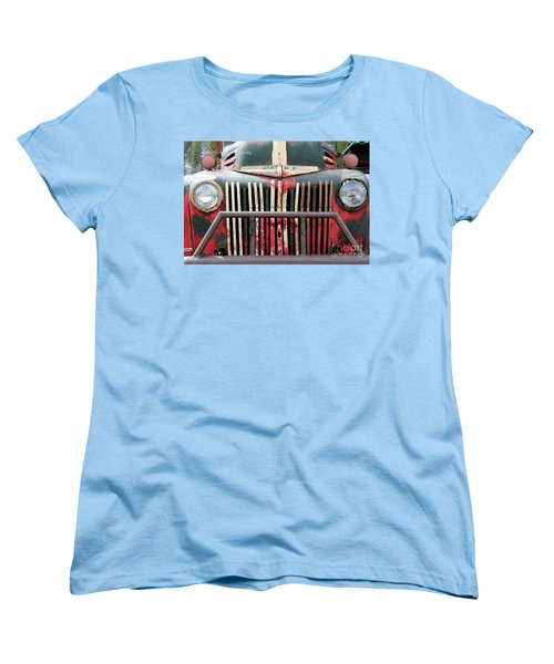 Women's T-Shirt (Standard Cut) featuring the photograph 1946 Vintage Ford Truck by Fiona Kennard