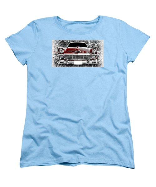 Vintage Car Women's T-Shirt (Standard Cut) featuring the photograph 1956 Chevy Bel Air by Aaron Berg