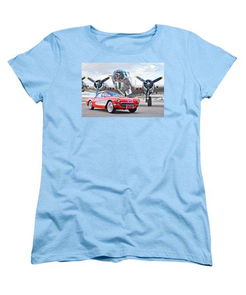 1957 Chevrolet Corvette Women's T-Shirt (Standard Cut) by Jill Reger