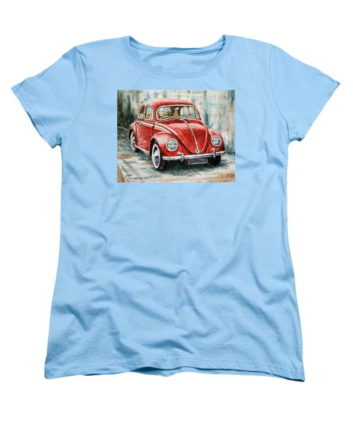 1960 Volkswagen Beetle 2 Women's T-Shirt (Standard Cut) by Joey Agbayani