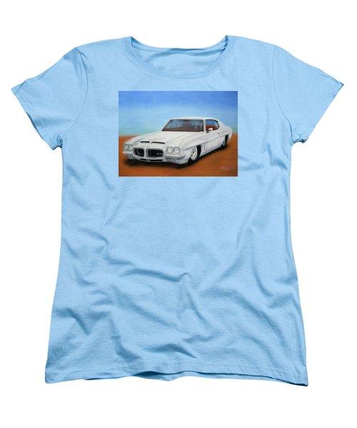 Women's T-Shirt (Standard Cut) featuring the painting 1972 Pontiac Gto by Thomas J Herring