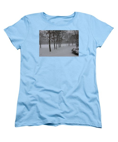 Women's T-Shirt (Standard Cut) featuring the photograph 2 2014 Winter Of The Snow by Paul SEQUENCE Ferguson             sequence dot net
