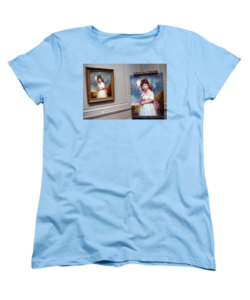 Women's T-Shirt (Standard Cut) featuring the photograph A Painting Of A Painting by Cora Wandel