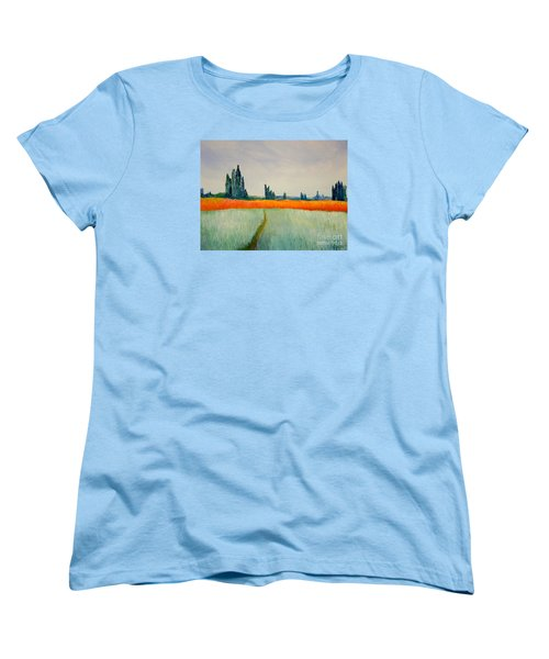 Women's T-Shirt (Standard Cut) featuring the painting After Monet by Bill OConnor