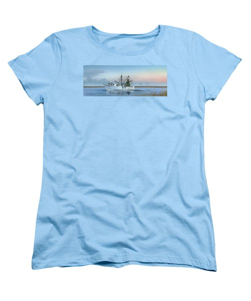 Women's T-Shirt (Standard Cut) featuring the painting Almost There by Mike Brown