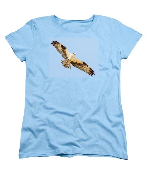 An Osprey Feeding On A Trout Women's T-Shirt (Standard Cut) by Brian Williamson