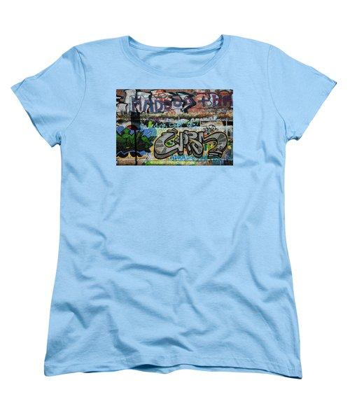Artistic Graffiti On The U2 Wall Women's T-Shirt (Standard Cut) by Panoramic Images