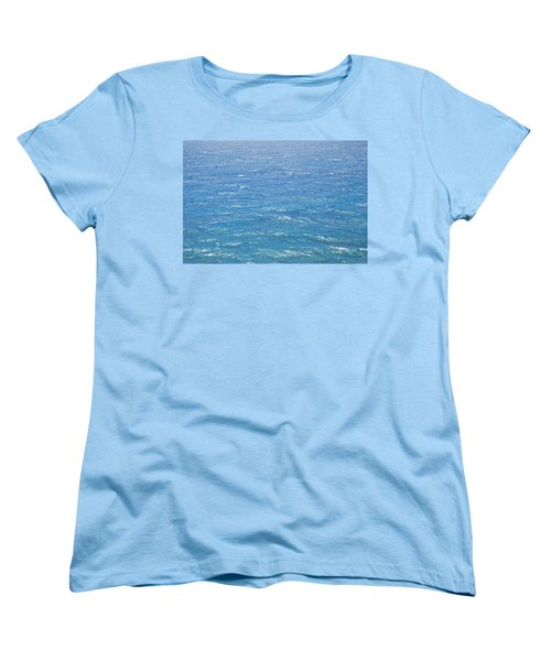 Women's T-Shirt (Standard Cut) featuring the photograph Blue Waters by George Katechis