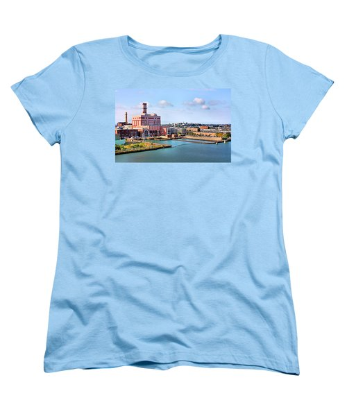 Women's T-Shirt (Standard Cut) featuring the photograph Boston Harbor by Kristin Elmquist