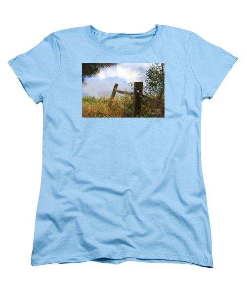 Cloud Reflections Women's T-Shirt (Standard Cut) by Deborah Benoit