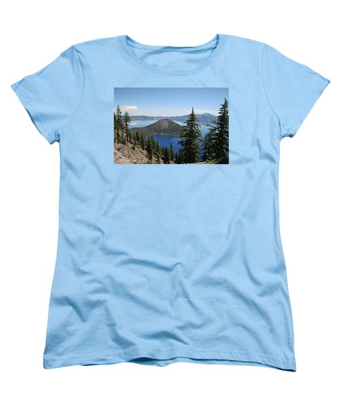 Crater Lake Oregon Women's T-Shirt (Standard Cut) by Tom Janca