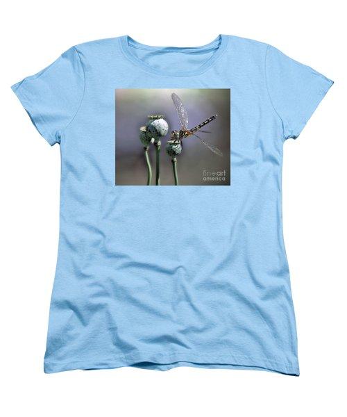 Women's T-Shirt (Standard Cut) featuring the photograph Dragonfly by Savannah Gibbs