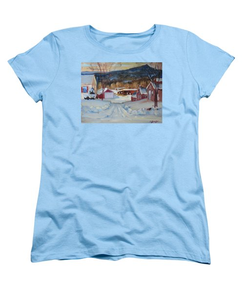 Women's T-Shirt (Standard Cut) featuring the painting Eddie's by Len Stomski