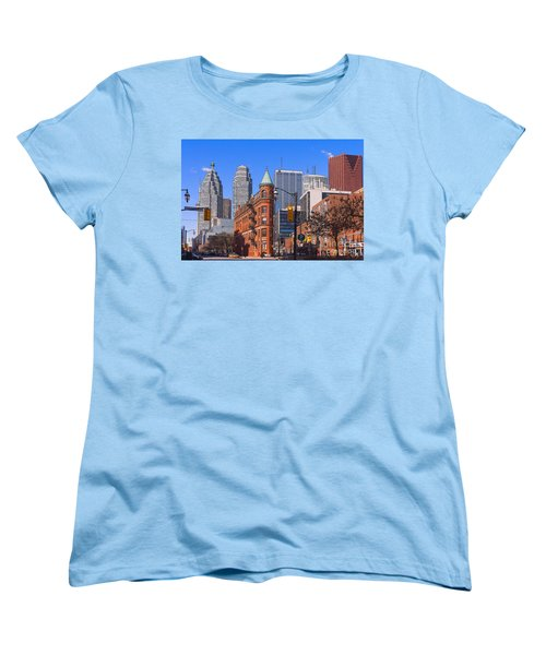 Flatiron Building In Toronto Women's T-Shirt (Standard Cut) by Les Palenik