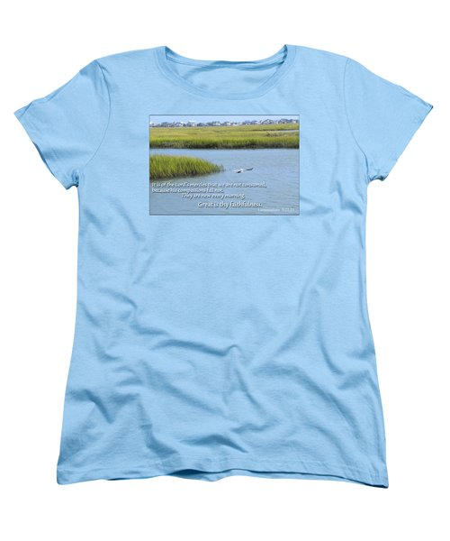 Women's T-Shirt (Standard Cut) featuring the photograph Great Is Thy Faithfulness by Larry Bishop