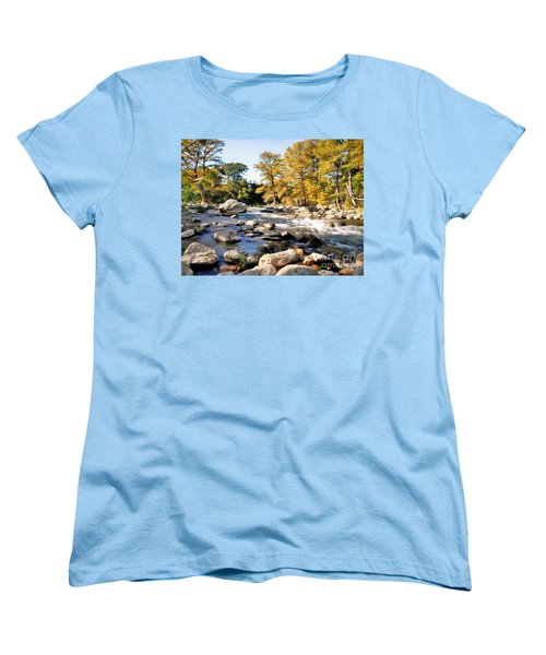 Women's T-Shirt (Standard Cut) featuring the photograph Guadalupe River  by Savannah Gibbs