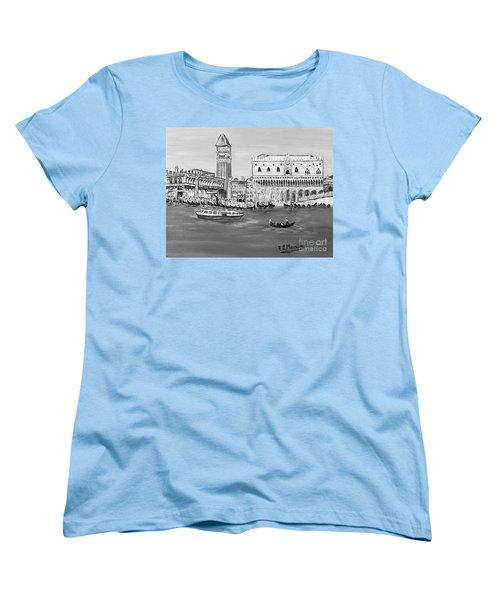 Women's T-Shirt (Standard Cut) featuring the painting Laguna by Loredana Messina