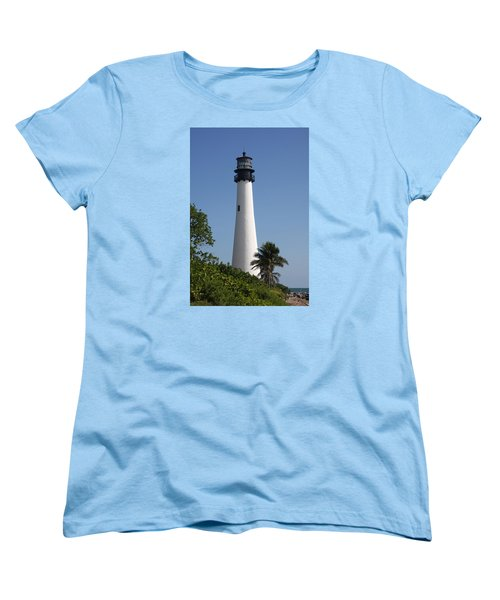 Ligthouse - Key Biscayne Women's T-Shirt (Standard Cut) by Christiane Schulze Art And Photography