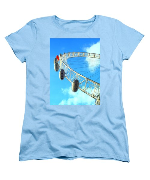 London Eye Women's T-Shirt (Standard Cut) by Rachel Mirror