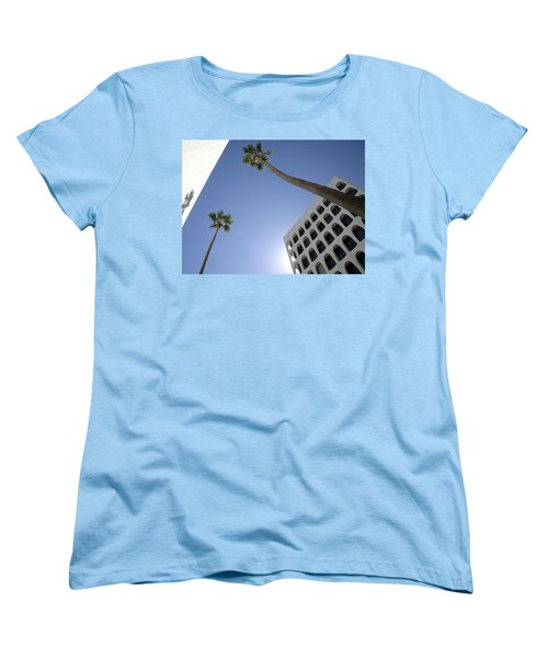 Women's T-Shirt (Standard Cut) featuring the photograph Looking Up In Beverly Hills by Cora Wandel
