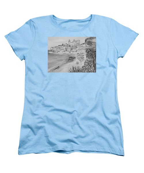 Women's T-Shirt (Standard Cut) featuring the painting Memorie D'estate by Loredana Messina