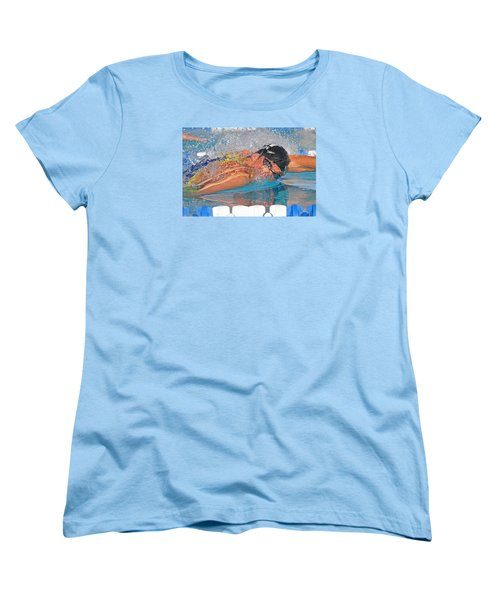 Michael Phelps Women's T-Shirt (Standard Cut) by Duncan Selby