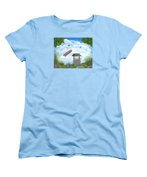 Women's T-Shirt (Standard Cut) featuring the painting My Wishing Place by Sheri Keith