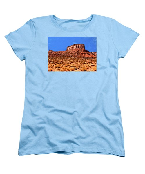 Women's T-Shirt (Standard Cut) featuring the painting National Navajo Tribal Park by Bob and Nadine Johnston