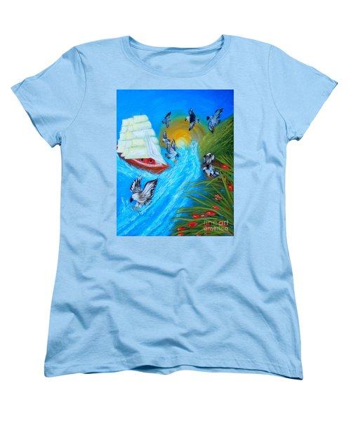 Nine Eagles For Success. Soul Collection Women's T-Shirt (Standard Cut) by Oksana Semenchenko