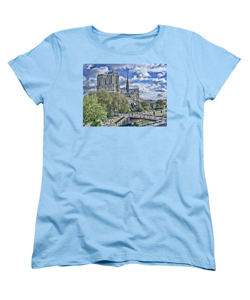 Notre Dame Women's T-Shirt (Standard Cut) by Hugh Smith