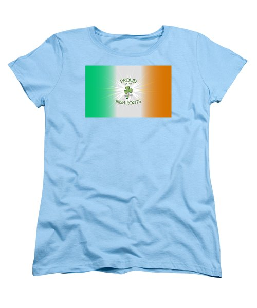 Proud Of My Irish Roots Women's T-Shirt (Standard Cut) by Ireland Calling