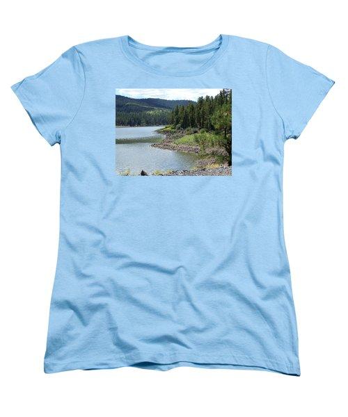 River Reservoir Women's T-Shirt (Standard Cut) by Pamela Walrath
