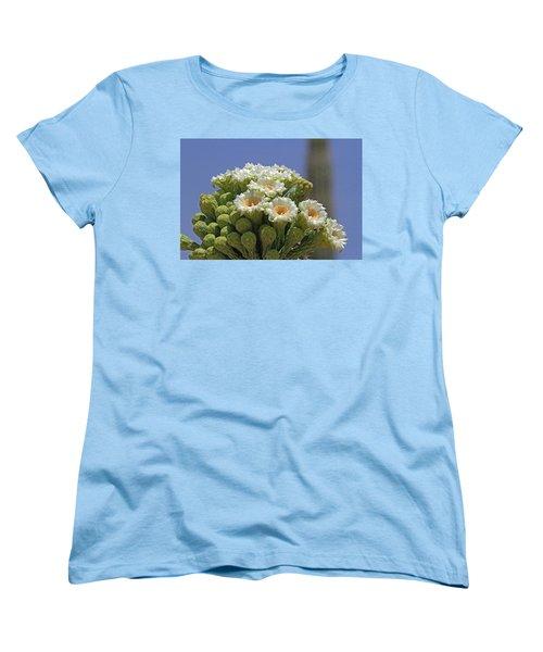 Saguaro Flower And Buds  Women's T-Shirt (Standard Cut) by Tom Janca