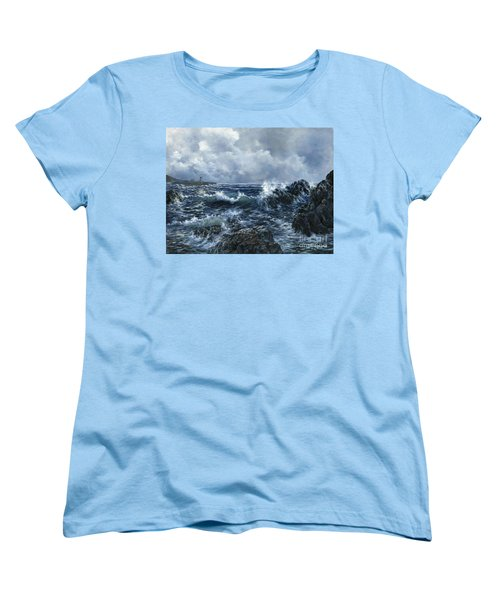 Women's T-Shirt (Standard Cut) featuring the painting Sailor's Light by Lynne Wright