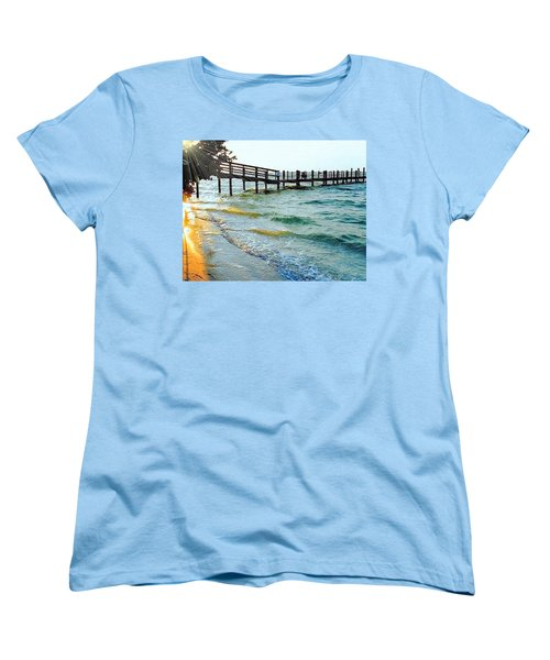 Women's T-Shirt (Standard Cut) featuring the photograph Sanibel At Sunset by Janette Boyd