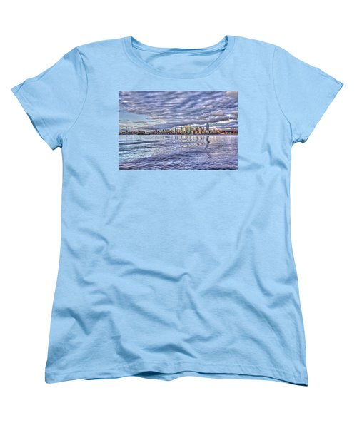 Seattle Skyline Cityscape Women's T-Shirt (Standard Cut)
