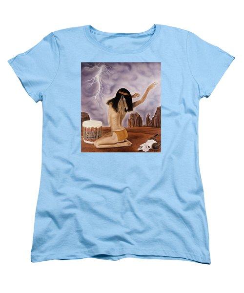 She Called The Rain Women's T-Shirt (Standard Cut) by Rich Milo