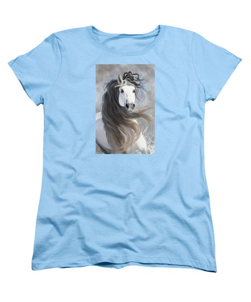 Snowflake Women's T-Shirt (Standard Cut) by Kate Black