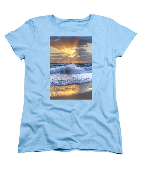 Splash Sunrise Women's T-Shirt (Standard Cut) by Debra and Dave Vanderlaan