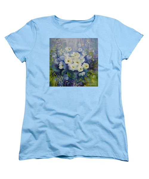 Women's T-Shirt (Standard Cut) featuring the painting Spring by Elena Oleniuc