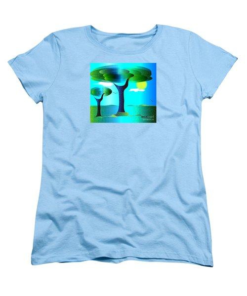 Women's T-Shirt (Standard Cut) featuring the digital art Sunny Day   by Iris Gelbart