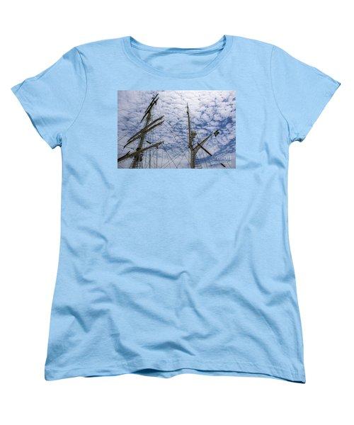 Tall Ship Mast Women's T-Shirt (Standard Cut) by Dale Powell