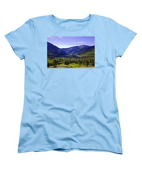 Vail Valley View Women's T-Shirt (Standard Cut) by Madeline Ellis