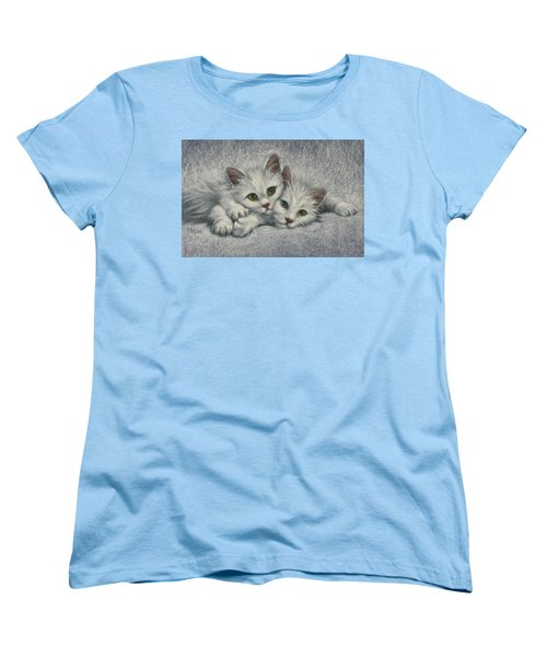 Women's T-Shirt (Standard Cut) featuring the painting White On White by Cynthia House