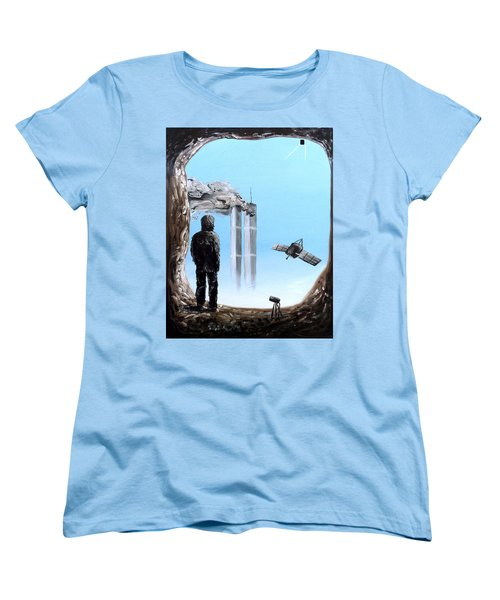 Women's T-Shirt (Standard Cut) featuring the painting 2012-confronting Inevitability by Ryan Demaree