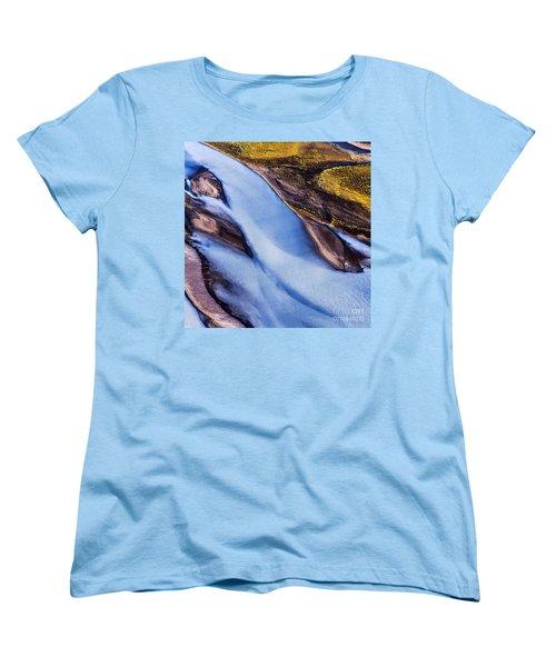 Aerial Photo Women's T-Shirt (Standard Cut) by Gunnar Orn Arnason