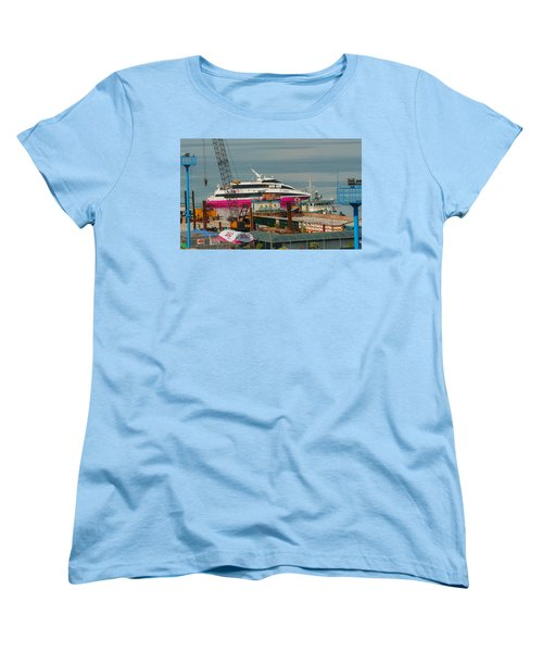 Women's T-Shirt (Standard Cut) featuring the photograph 2go Travel by Ester  Rogers