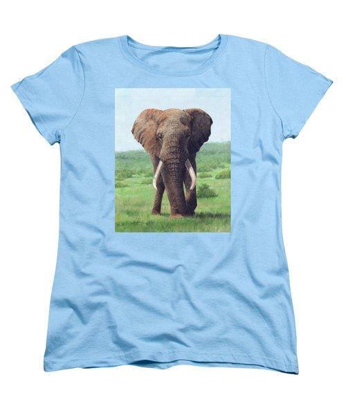 African Elephant Women's T-Shirt (Standard Cut)
